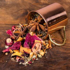 Winter Solstice loose tea in cup