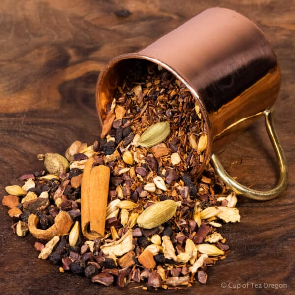 Aztec Chai loose tea in cup