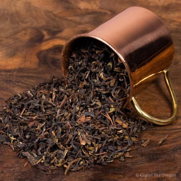 Darjeeling loose tea in cup