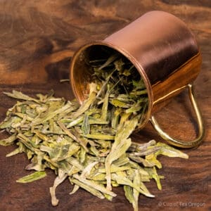 DragonWell loose tea in cup