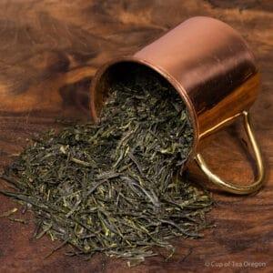 Gyokuro loose tea in cup
