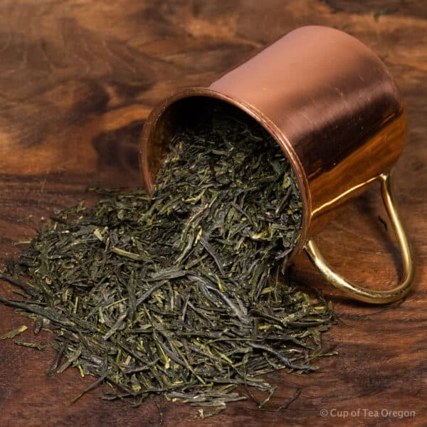 Gyokuro loose tea in cup