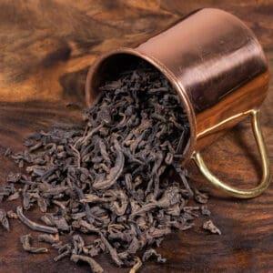 Jing mai loose tea in cup