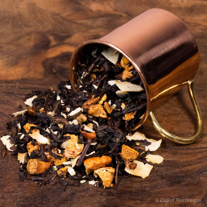 Kokosnuss loose tea in cup