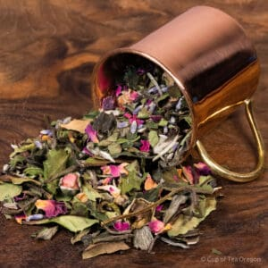 Lavender Rose loose tea in cup