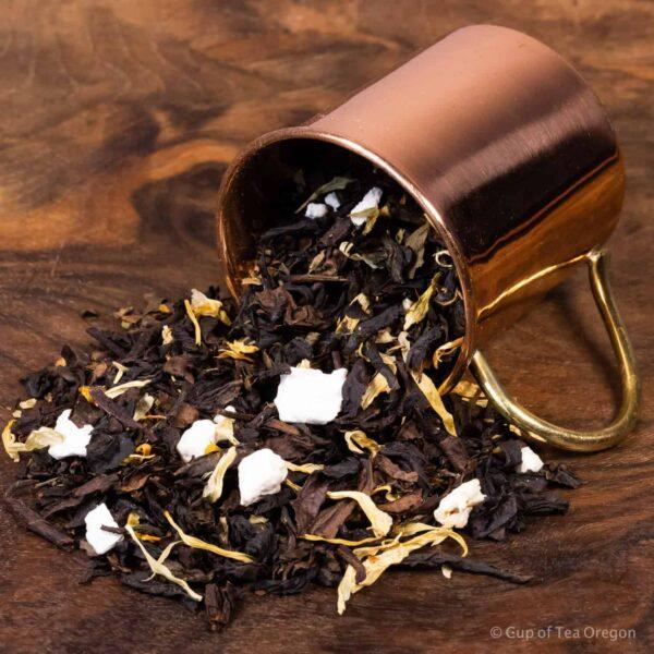 Lemon Basil loose tea in cup