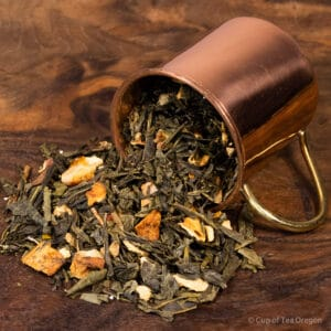 Lemon Ginger loose tea in cup