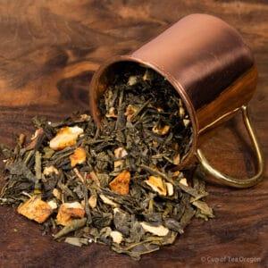 Lemon Ginger loose tea in cup