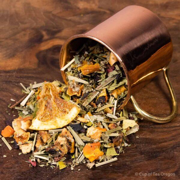 Lemon Tart loose tea in cup