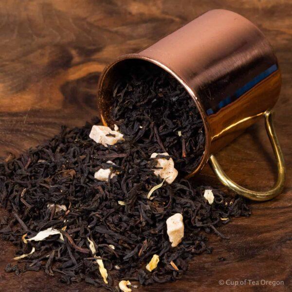 Midnight Mango loose tea in cup
