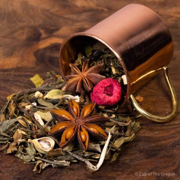 Obecalp loose tea in cup