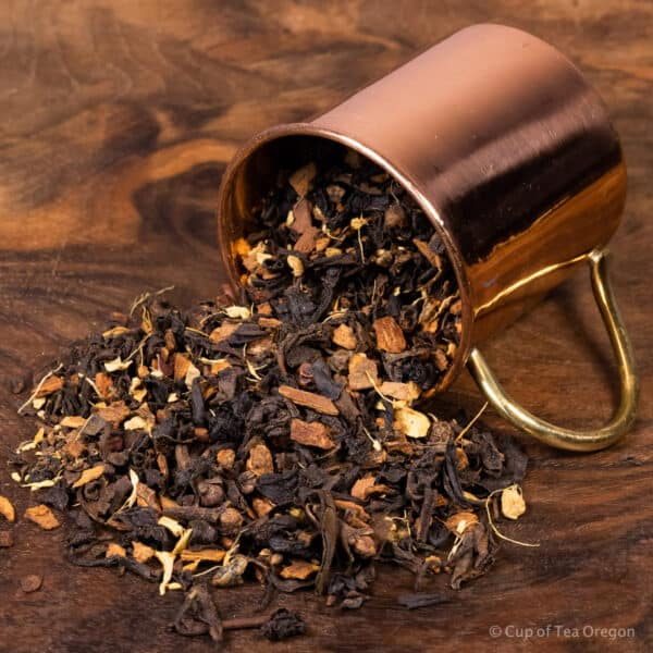 Parkers Chai loose tea in cup