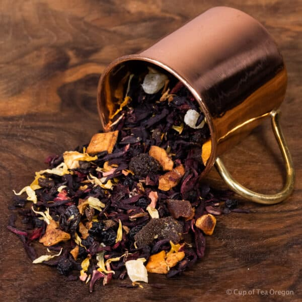 Peach Apricot loose tea in cup