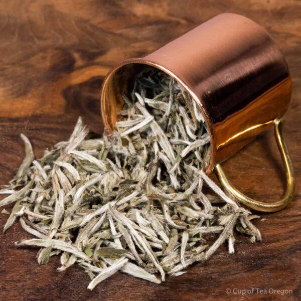 Silver Needle loose tea in cup