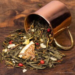 Winter Pine loose tea in cup
