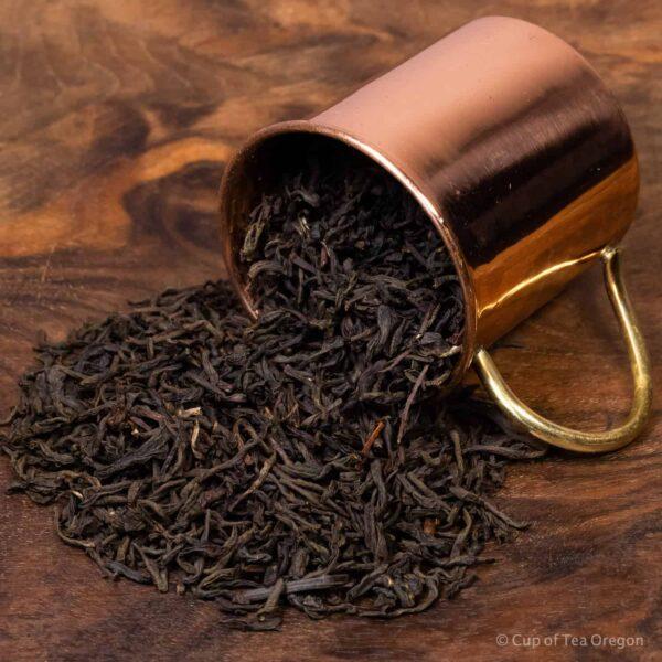 assam loose tea in cup