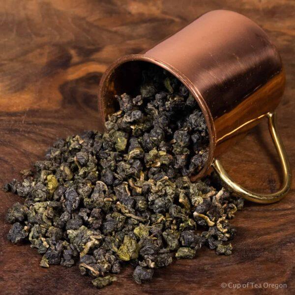 shanlinxi loose tea in cup