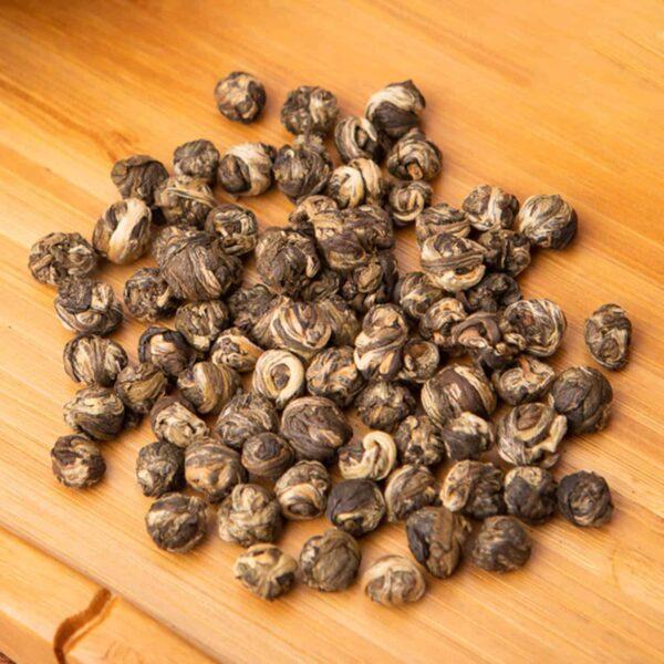 Jasmine Pearls loose-leaf, Chinese green tea