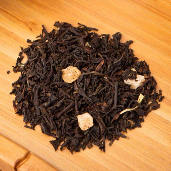 Midnight Mango loose-leaf, black tea blend: Black tea, mango