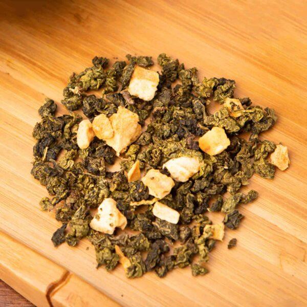 Ms. Apricot loose-leaf, oolong tea blend: Oolong, apricot, natural flavor