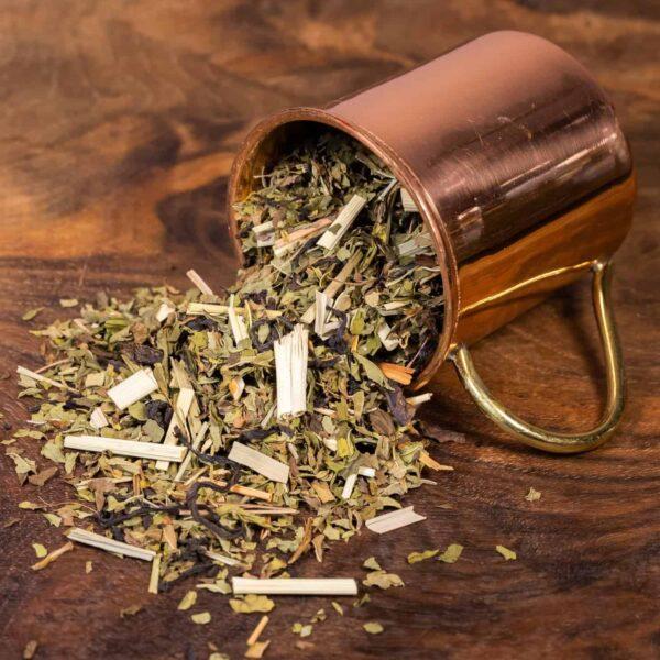 Mountain Mint loose tea in cup
