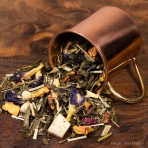 Purple Rain loose tea in cup