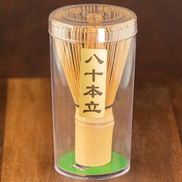 Whisk for matcha inside packaging