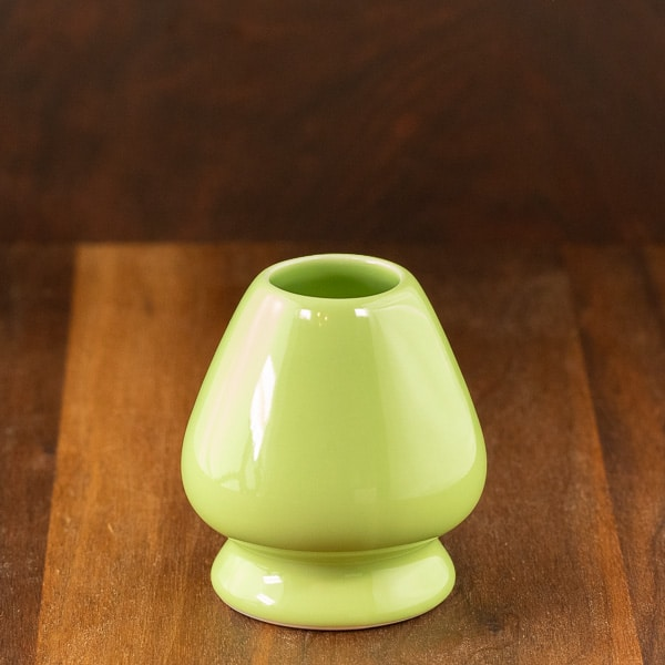 Green matcha whisk stand