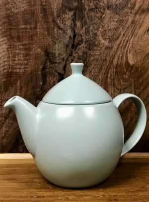 14-ounce, mint blue teapot.