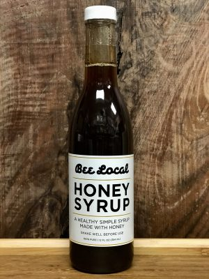 12-ounce Bee Local honey syrup.