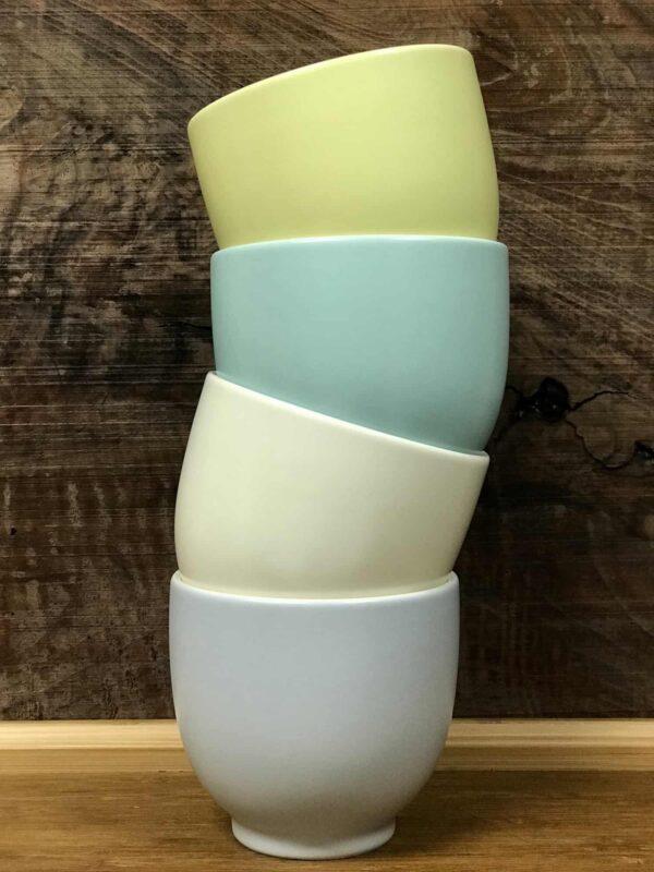 Cups come in four colors: Lemon, Mint, Cotton, and Lavender.
