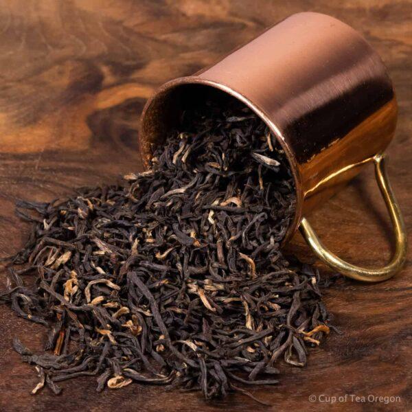 assam gold loose tea in cup