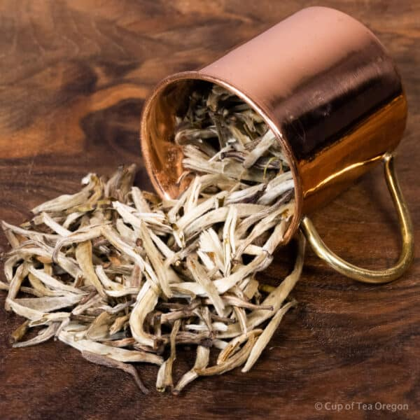 Jasmine Silver Needle loose tea in cup