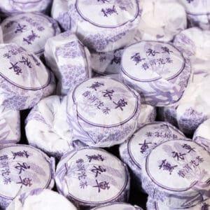 Lavender Puerh Nest pu-erh cakes