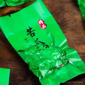 Roasted Tie Guan Yin pu-erh cake