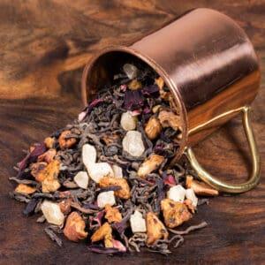 Clatsop Kiwi loose tea in cup