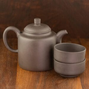 black yixing tea set