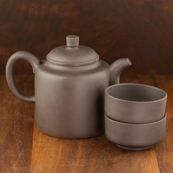 black yixing tea set