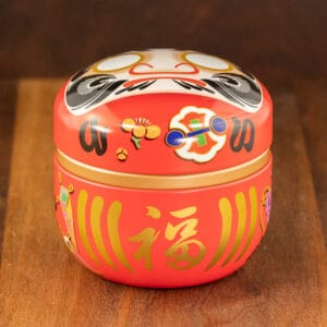 Daruma tin red color