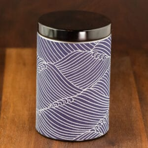 blue tin pacific ocean design small