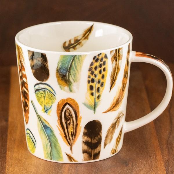 aquarell feather mug