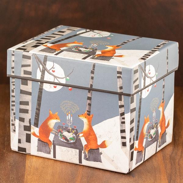 blue color mug box midnight feast design