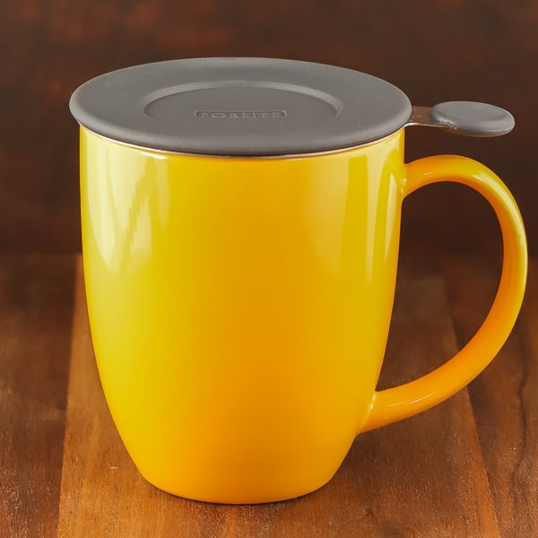 mandarin reflective color forlife black tea infuser mug