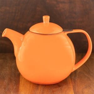 carrot color forlife curve teapot