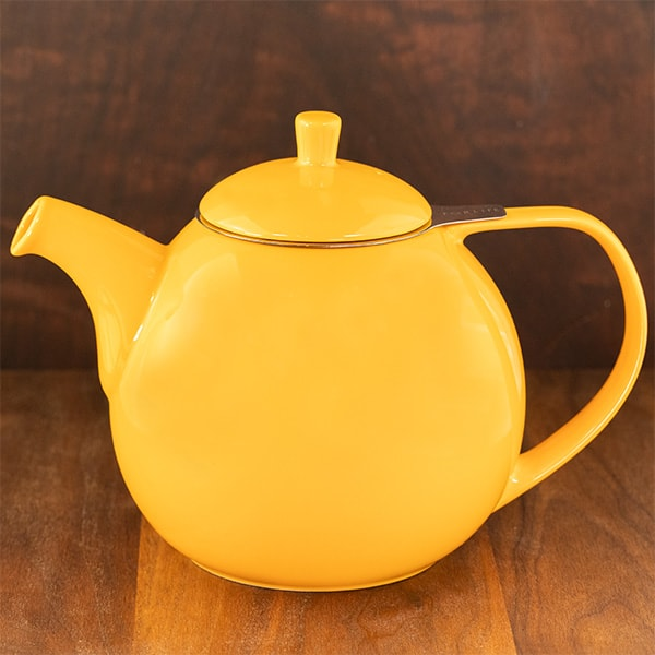 yellow color forlife curve teapot
