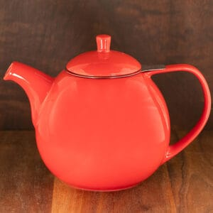 red color forlife curve teapot