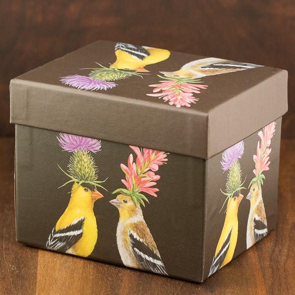 goldfinch couple mug box