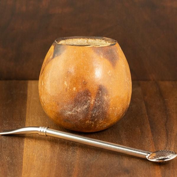 yerba mate gourd and straw