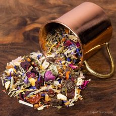 Reiki loose tea in cup