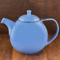 blue color forlife curve teapot
